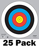 60 cm / 24 in Bullseye Archery and Gun Targets by Longbow Targets (pack of 25)