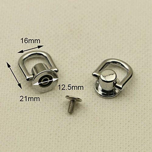 Screw d ring Chain Connector Purse Connector Ring screw rivet purse ring belt buckle purse clasp 12mm 2pair 12