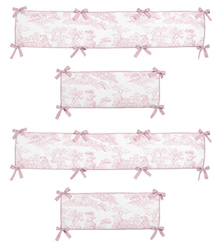 - Sweet JoJo Designs Pink French Toile Collection Crib Bumper