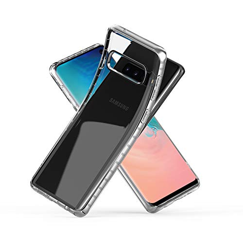 (Zebrago Galaxy S10 Case Clear, Luxury Slim Ultra Thin Lightweight Electroplate Bumper Soft TPU Phone Case Stylish Edge Fit Gel Transparent Phone Cover Case Compatible with Samsung Galaxy S10 (Silver))
