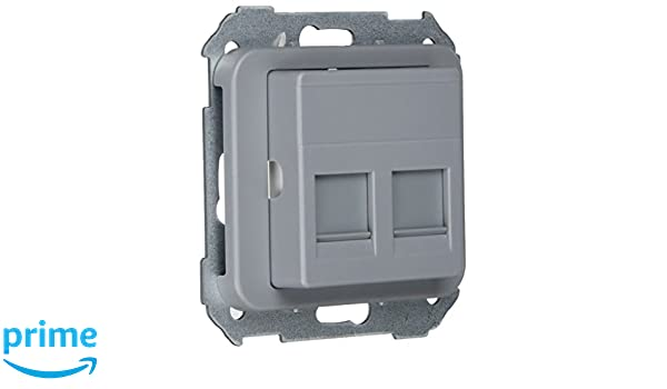 75589-65 adaptador 2 rj-45 amp s-75 gris Ref Simon 6557535318