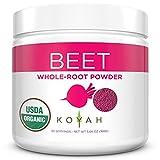 KOYAH - Organic Freeze-Dried Beet Powder (1 Scoop = 1/2 Beet): 30 Servings, USA Grown, Whole-Root Powder