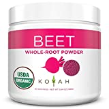 KOYAH - Organic USA Grown Beet Powder (1 Scoop = 1/2 Beet): 30 Servings, Freeze-dried, Whole-Root Powder