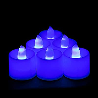 Yumian Electric Candle, Flameless Candles by LED, Set of 12 Electronic LED Candle Multi Color Changing Remote Flickering Tealight Night Light Home Wedding Party Decor