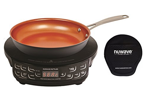 (NuWave PIC Compact Precision Induction Cooktop with 9-inch Hard Anodized Fry Pan & Carrying Bag)