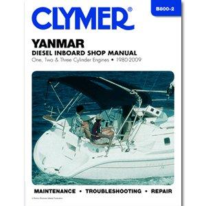 Clymer Yanmar Diesel Inboard Shop Manual - One, Two & Three Cylinder Engines (1980-2009)