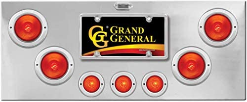 GG Grand General 91860 Chrome Plated Rear Panel with 4 inches Pearl Red LED Light Grommet Only