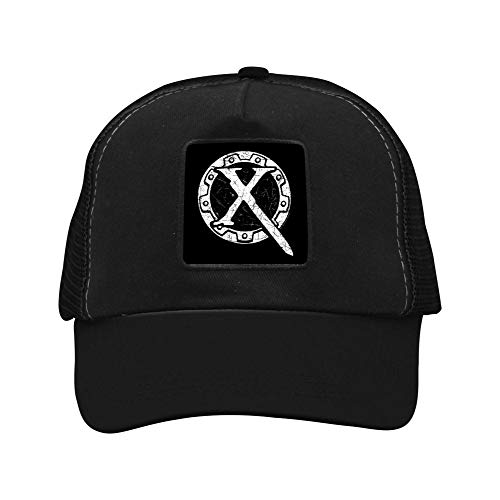 Adjustable Grid Baseball Cap Dad Hat Xena Princess Warrior Trucker Cap for Mens Womens Black -