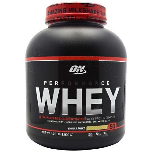 Optimum Nutrition Performance Whey Vanilla Shake - 4.3 lbs (1,950 g) (3 Pack)