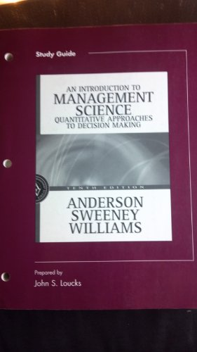 Study Guide to accompany Introduction to Management Science: A Quantitative Approach to Decision Making