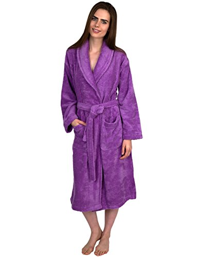 TowelSelections Women's Turkish Cotton Soft Bathrobe Terry Robe Small/Medium African Violet