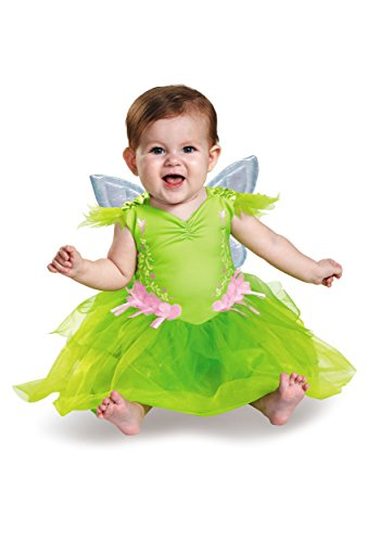 Month Halloween Costumes 12 Girl (Disguise Baby Girls' Tinker Bell Deluxe Infant Costume, Green, 12-18)