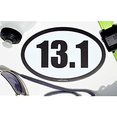 Motvia 13.1 Half Marathon Oval Car Magnet: Automotive
