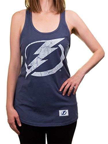 Calhoun NHL Ladies Distressed Flowy Racerback Cover Up (Tampa Bay Lightning, ()