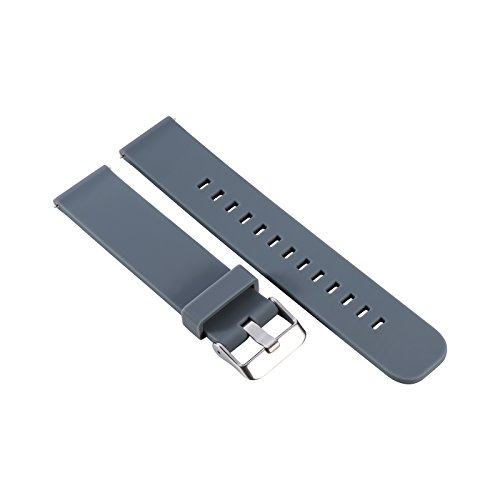 For Garmin Forerunner 645 Replacement Band(20MM Width)RuenTech Silicone Watch Band Strap For Garmin Forerunner 645 / 645 Music GPS Running Watch (Gray) by RuenTech