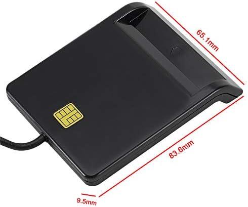 Noblik Lector de Tarjeta Inteligente Port/áTil Universal para Tarjeta Bancaria ID de Tarjeta de Impuestos CAC DNIE ATM IC Lector de Tarjeta SIM para Tel/éFonos y Tabletas Android