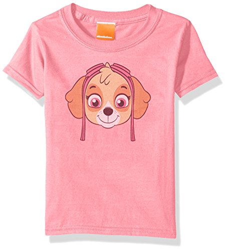Faces Girls T-shirt (Paw Patrol Toddler Kids Skye Big Face Tee, Hot Pink, 5T)