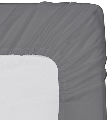 Utopia Bedding Fitted Sheet King Grey Deep Pocket