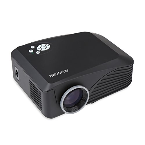 FORNORM LCD Portable Mini Projector Multimedia Home Theater Video Projector Support HD 1080P HDMI USB SD AV for Outdoor Indoor Movie Night DVD Player Laptops Tablets iPhone Smartphones and Games