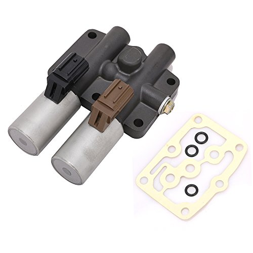 Transmission Dual Linear Solenoid for Honda Accord Odyssey Acura CL TL MDX Pilot Prelude Replace# 28250-P6H-024 28250P6H024 With 1PCS Gasket and 3PCS O-Rings