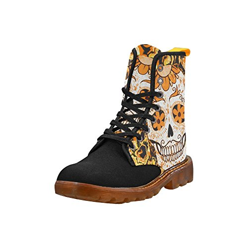 LEINTEREST Fractal Skull peach Martin Boots Fashion Shoes For Women huNWgfy