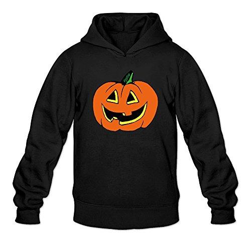 MARY Men's Big Fire Smile Pumpkin Face Poster Hoodie Black (Blink 182 Halloween Poster)
