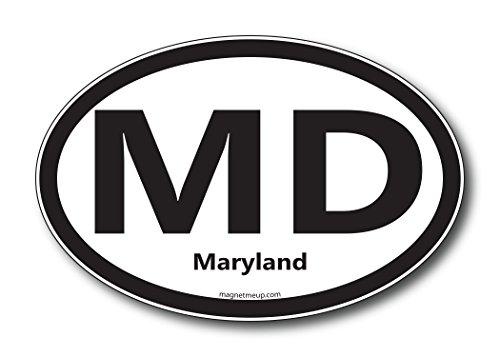 MD Maryland Car Magnet US State Oval Refrigerator Locker SUV Heavy Duty Waterproof…