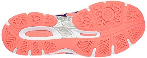 Asics Gel-Netburner Ballistic, Zapatillas de Voleibol para Mujer Naranja (Flash Coral/parachute Purple/cockatoo)