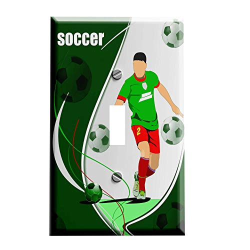 Soccer Switchplate - Switch Plate Cover ()