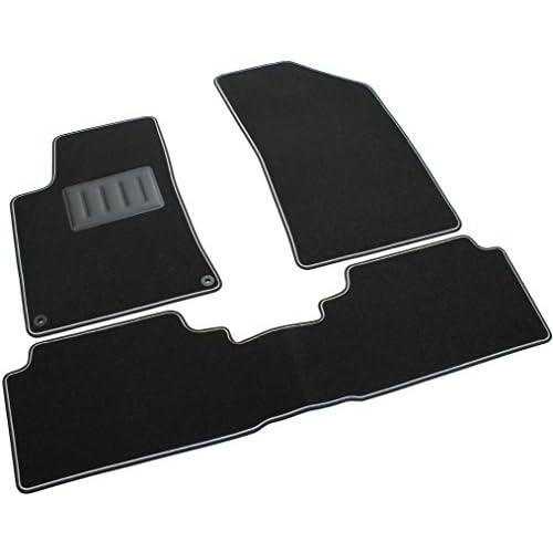 Il Tappeto Auto SPRINT03518 Tapis antidérapants en moquette noire, bord bicolore, talonnette renforcée en caoutchouc cheap