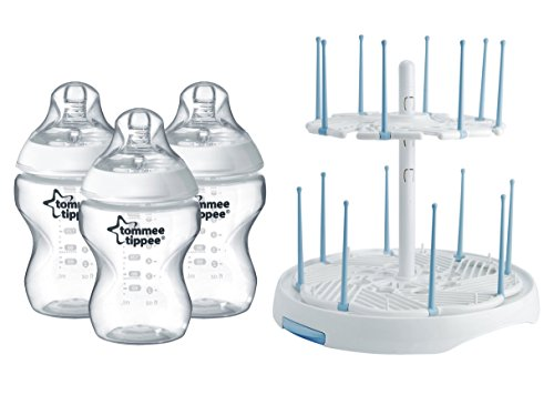 Tommee Tippee Natural 3 Pack Bottles with High Capacity Dryi