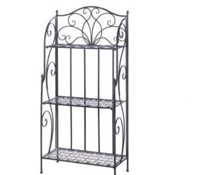 Price comparison product image SKB Family Divine Baker's Rack Home Accent Shelves Decor Iron Tube