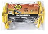 Bondhus 13338 Set of 10 Hex T-handles, sizes