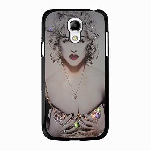 hülle Handyhülle Shell Hot Bling Diamond Dressed Super Singer Madonna Ciccone Phone hülle Handyhülle Cover for Samsung Galaxy S4 Mini Madonna New Stylish,Telefonkasten SchutzHülle
