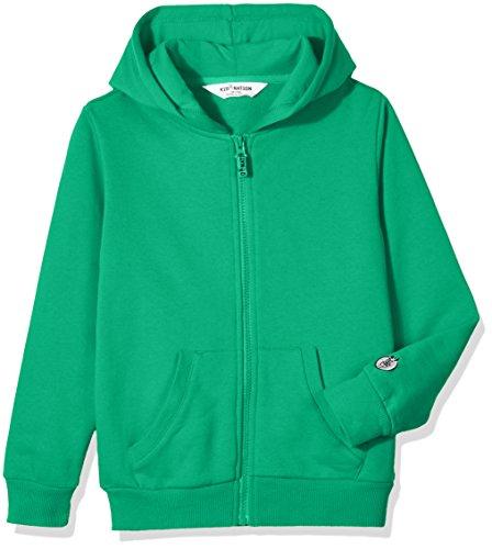 Girl Kids Places Sweatshirt - Kid Nation Kids' Soft Brushed Fleece Zip-Up Hooded Sweatshirt Hoodie for Boys or Girls S Green