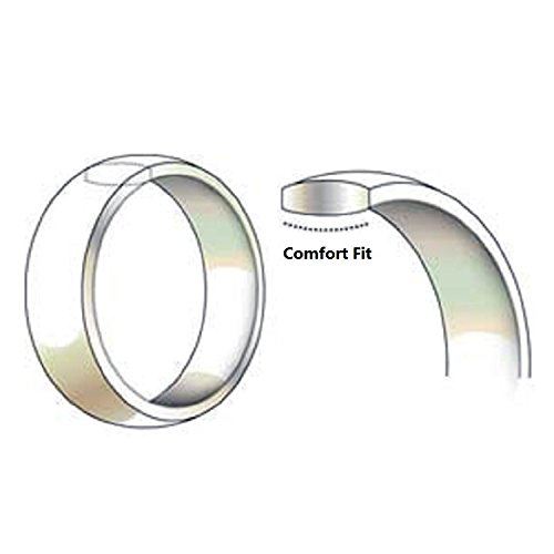 Tungsten Carbide Diamond Men's Wedding Band .20CTW (H-I I2),size 12 by AX Jewelry (Image #3)