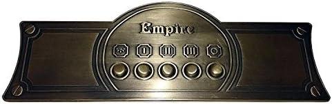 Exclusiva campana extractora de 60 cm de diseño, campana de pared de serie Empire, campana de chimenea marfil – Empire/mango – Bronce/campana de extracción con motor de succión, 910m3/h/Inkl. Filtro de carbón