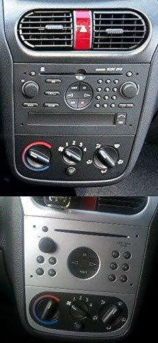 Inex Vauxhall Black Single DIN Car CD Stereo Radio Facia Fascia Adaptor Fitting Kit