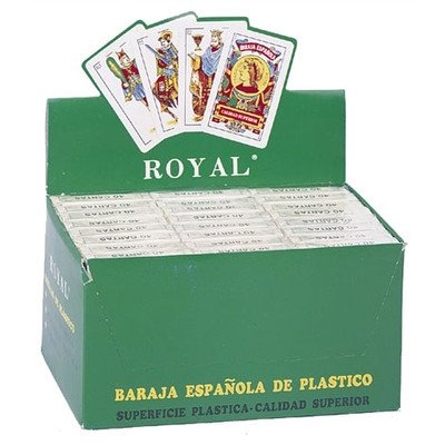 Royal Plastic Spanish Playing Cards Display, Pack of 24 Decks by CHH (Image #1)