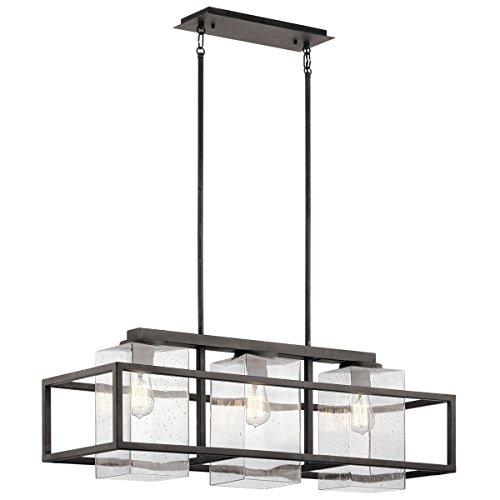 Outdoor Pendant 3 Light with Weathered Zinc Finish Steel Medium 12 inch 450 Watts - Wright Pendant Light 3