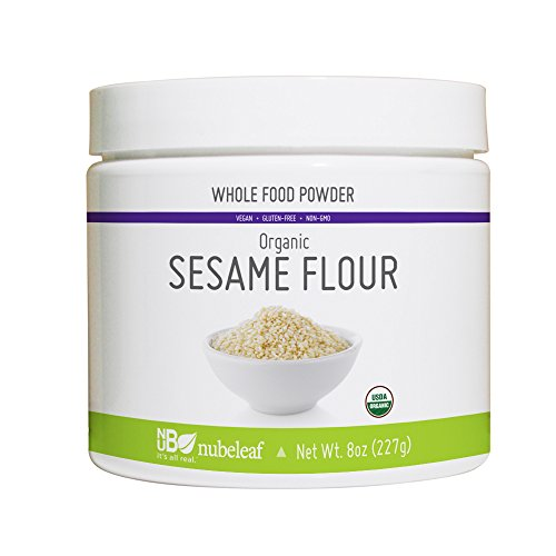 Nubeleaf Sesame Flour 60% Protein Powder - Non-GMO, Gluten-Free, Raw, Organic, Vegan Source of Fiber & Essential Amino Acids - Single-Ingredient Nutrient Rich Superfood for Cooking, Baking, Smoothies