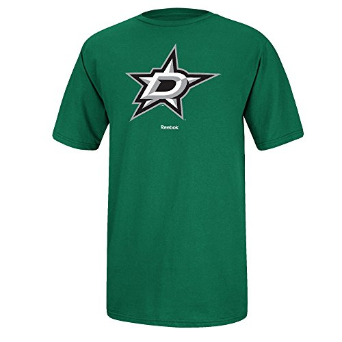 Dallas Stars Reebok Primary Logo Men's T-Shirt - Kelly Green (Small)