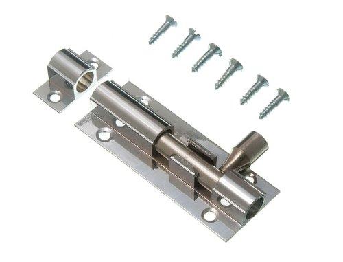 Lot Of 20 Door Bolt Barrel Slide Lock 63Mm 2 1/2 Inch Chrome With Screws