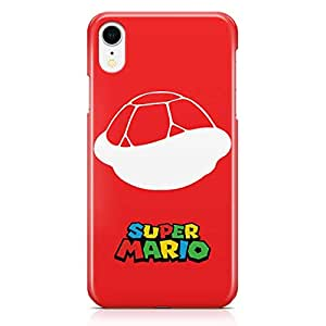 Loud Universe Super MArio Turtle iPhone XR Case Red Mario Logo iPhone XR Cover with 3d Wrap around Edges