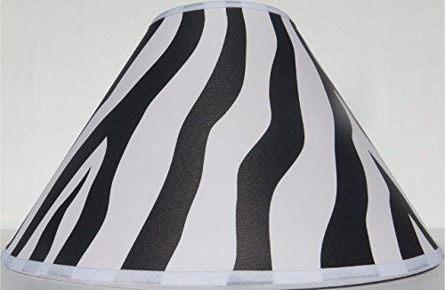 Zebra Print Lamp Shade in Black / Zebra Print Nursery Decor