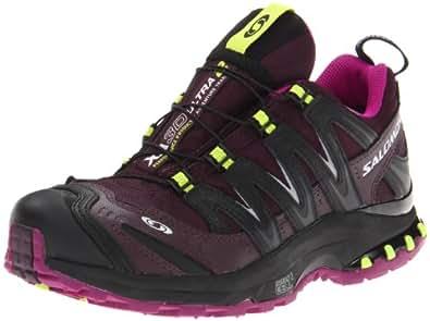 Salomon Women's XA Pro 3D Ultra 2 WP Trail Running Shoe,Dark Plum-X/Very Purple/Pop Green,5 M US