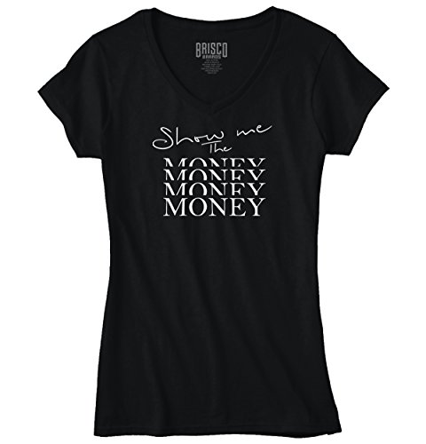 Show Me Money Women Shirts Funny Picture Shirt Cute Gift Cool Junior V-Neck Tee - Tom Jerry 64