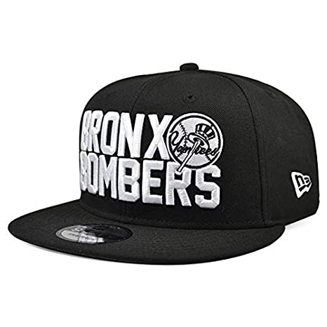 new product 9a1f0 d39b8 Image Unavailable. Image not available for. Color  New Era Bronx Bombers York  Yankees Snapback 9Fifty MLB Hat - Black