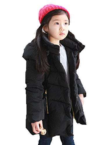 Wadded Girls Lemonkids;® Black Outfit Jacket Hooded Children Chic Anoraks Winter Coat wAUCnPUqx