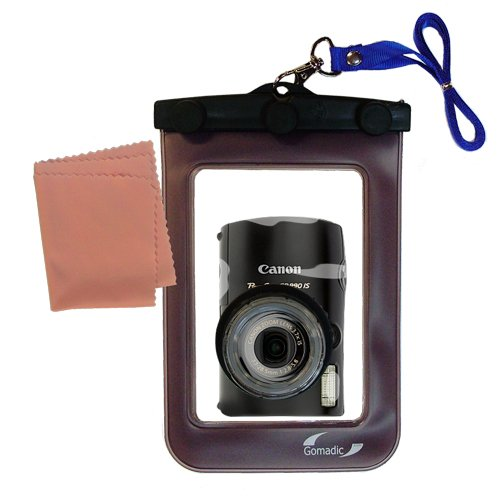 Gomadic防水カメラ保護バッグSuitable for the Canon PowerShot sd990 is – UniqueフローティングデザインKeepsカメラClean and Dry   B007FDPPB4